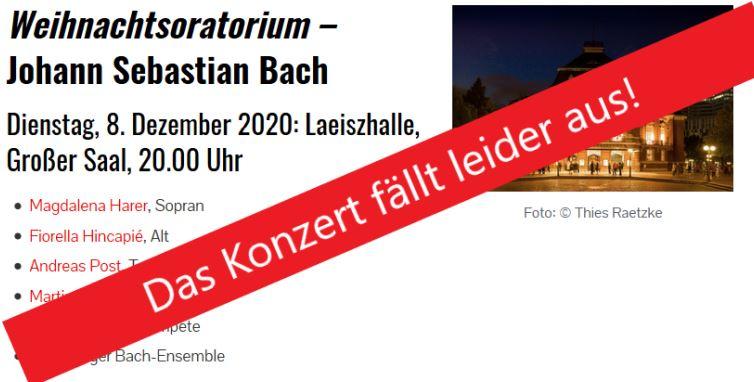 Weihnachtsoratorium Hamburg 2021
